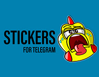 """Sticker Pack """"Stricken Chicken"""""""