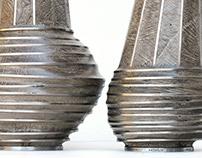 "collection de vases ""ETHNOS•PLISS"""
