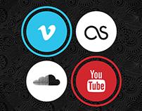 CSS3 Icons for Gosoundtrack.com