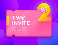 2-DRIBBBLE INVITE