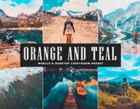 Free Orange and Teal Mobile & Desktop Lightroom Preset