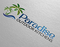 Paradise Outdoor Kitchens Logo Design w/Advertisement