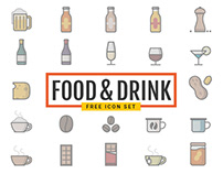 Food & Drink 120 Free Icons