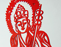 Buddhist Paper-cut