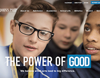 The Brother Good – St. John's Prep site design