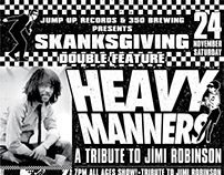 "Skanksgiving 2018 Poster and Heavy Manners 7"" Label"