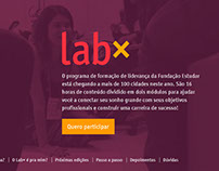Hotsite - LabX