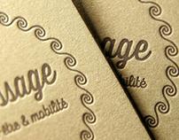Massage - business card - letterpress