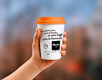Packaging de café  + claim creativo