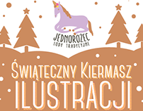 Plakat Jednorożec | Unicorn Christmas Fair Poster