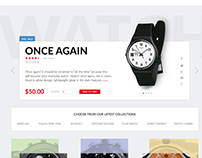 Swatch.com sales page demo design & development