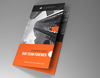 Indesign Template A4 trifold brochure rounded