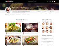 WeLoveRecipes - User Interface pages