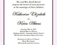 Wedding Invite - Classic Lilac