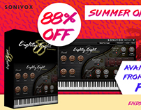 Sonivox Summer of Eighty Eight Ad for Plugin Boutique