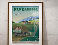 4th retro poster for Swiss steamboat company ProDampfer