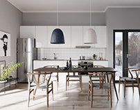 Kitchen Scandinavian-apartment