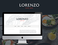 Diseño Web para Lorenzo Bar / Restaurant website