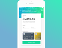 Banking App UI with Login Animation
