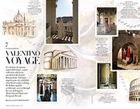 Rome Map Illustration for Harpers Bazaar Magazine