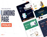Tech Landing Page Folio - Vol-1