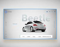 VW BEETLE LANDING PAGE CONCEPT