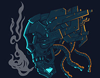 Bundle Mecha Skull Head