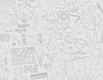 Unitec 'DiscoverYou' event, microsite, illustrations