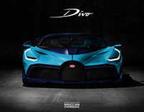 Bugatti Divo livery and spec concepts