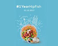 Imagen gráfica para aniversario de Hip Fish