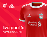 Liverpool FC home kit 2017/18