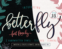 BetterFly - 3 modern fonts & swashes