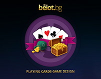 PLaying cards game - design, logo