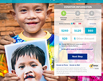 Operation Smile Multi-Step Donation Web Page '16