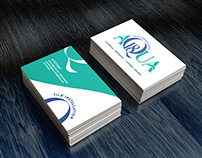 Aqua Logo and Business Card