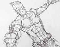 Random Marvel sketches