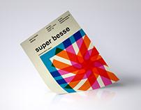 super besse poster - concert in tampere, finland
