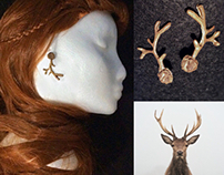 Earrings of Arassiel (Stag Maiden Set)