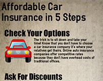 Affordable Car Insurance in 5 Steps (Infographic)