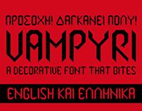 Vampyri - a free decorative font