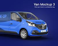 Renault Trafic Van Mockup