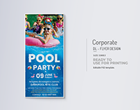 Pool Party Rack Card Title Design