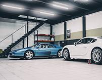 Porsche Cayman GT4 Club Sport & Ferrari 348