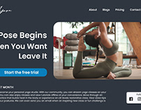 Yoga Website Homepage Design