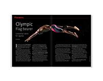 Olympic Flag-bearer – magazine feature design