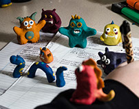 Stop Motion- Modelling Clay Monsters