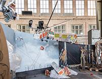 Art installation in Tempelhof, Berlin