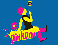 Pinkpop T-shirt design