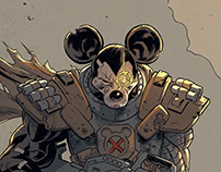 Mickey Mouse/Cable illustration.