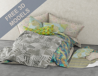 FREE 3D MODEL OF CUSHIONS BED